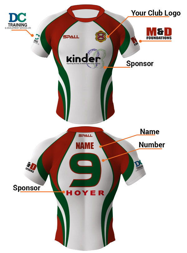Spall Rugby Kits Have Unlimited Amounts Of Customisation Options