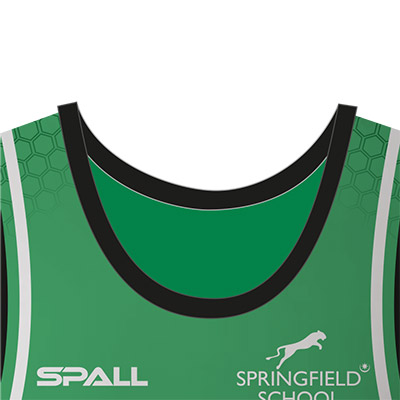 choose from 4 different collar options in your custom Spall Basketball Sportswear