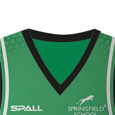 Spall Basketball Vest With Traditional V-Neck Collar