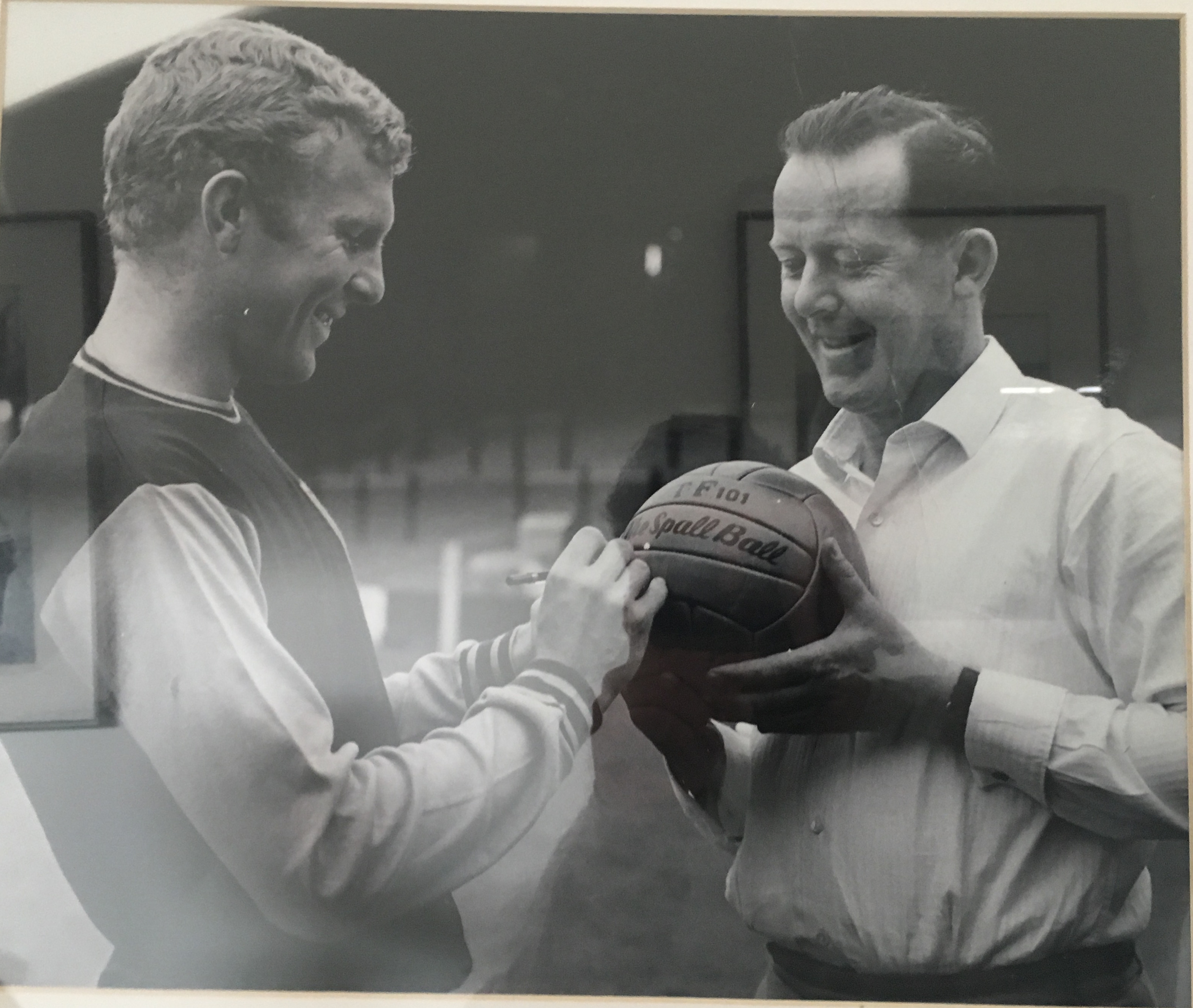 Bobby Moore England captain at the 1966 worldcup win endorsing Spall