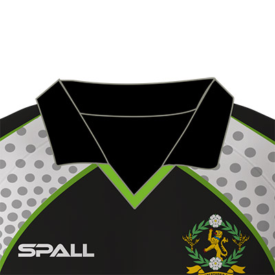 choose from 4 different collar options in your custom Spall Football Sportswear