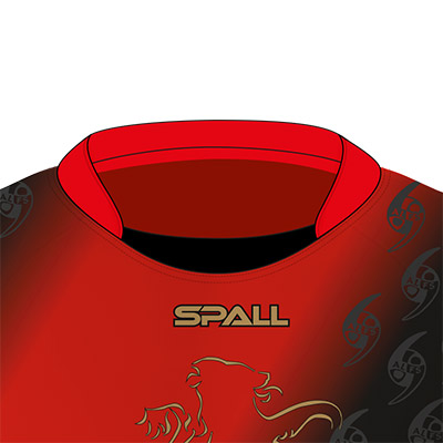Spall Martial Arts Shirt With An Inset Collar