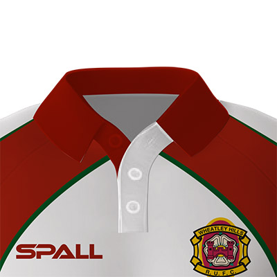 choose from 4 different collar options in your custom Spall Rugby Sportswear