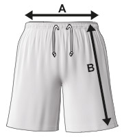 Kids and Mens Basketball Shorts Size Specification Icon