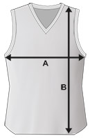 Mens Basketball Vest Size Specification Icon