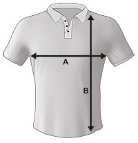 Mens and Kids Bowls Shirt Size Specification Icon