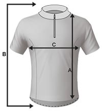 Mens Cycling Jersey Size Specification Icon