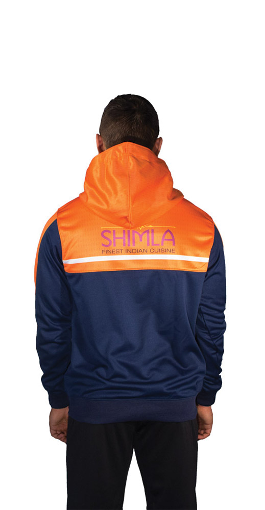 Spall Part Sublimated Hoodie From The Back